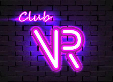 Virtual Reality neon