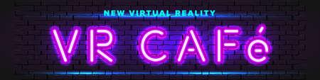 VR Cafe neon banner