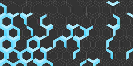 Abstract polygonal seamless background Vectores