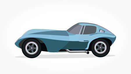 illustrazione vettoriale di auto cool con dettagli ed effetto ombra