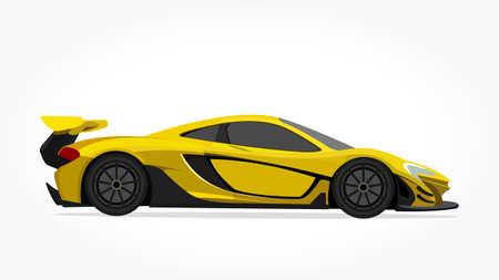 coole auto vector illlustration met details en schaduweffect