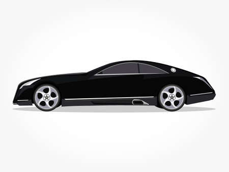 cool car vector illlustration with details and shadow effect