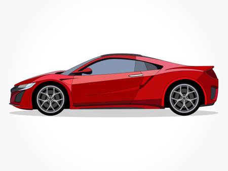 coole Autovektorillustration mit Details und Schatteneffekt Vektorgrafik