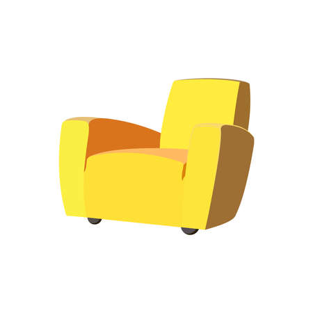 yellow sofa icon vector illustration 일러스트