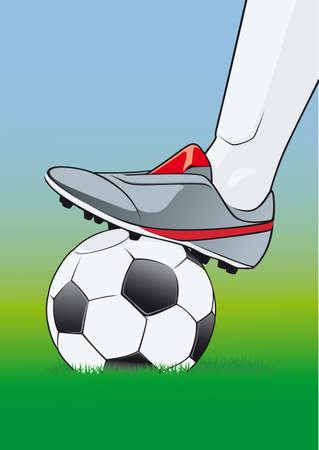 kickoff: soccer kick-off
