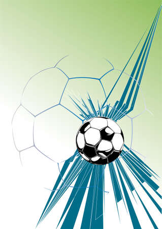 teamsport: soccer ball in front of a dynamic background
