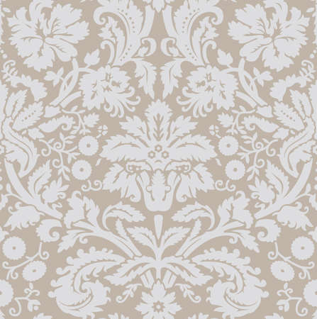 brocade: Wallpaper grey beige Illustration