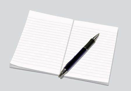 ballpen: notebook with ballpen Illustration