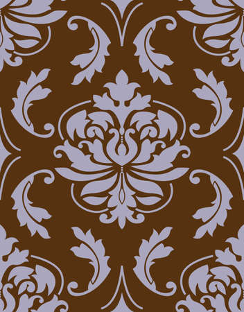 floral lilac and brown patterns