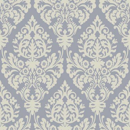 Grijs en crème floral patterns Stockfoto - 9730011