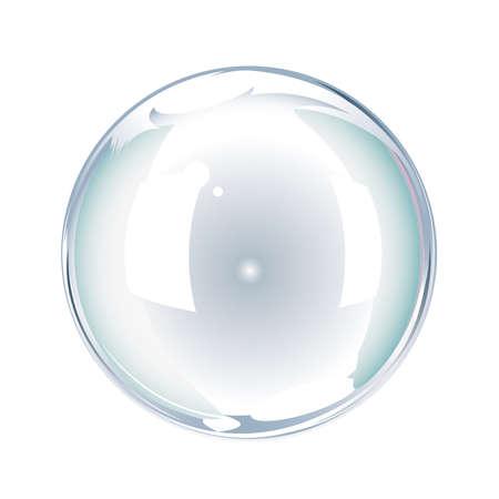 kugel: Seifenblase vor weissem Hintergrund