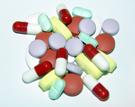 Stack of Pills, Capsules, Tablets and Caplets