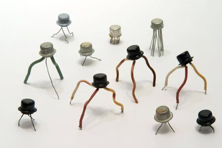 radiogram: Old transistors chips