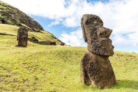 Rano Raraku, the quarry of the Moai