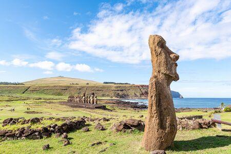 Ahu Tongariki, the 15 moai statues