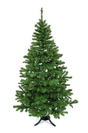A plastic christmas tree.