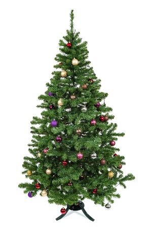 Christmas tree isolated on white background. Banque d'images