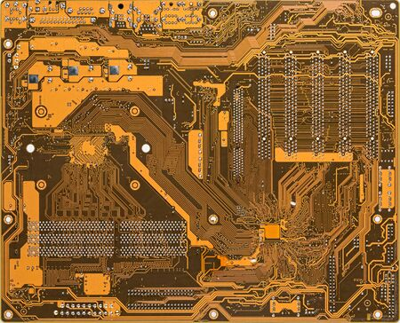 A printed circuit board (PCB) mechanically supports and electrically connects electrical or electronic components using conductive tracks. Stockfoto