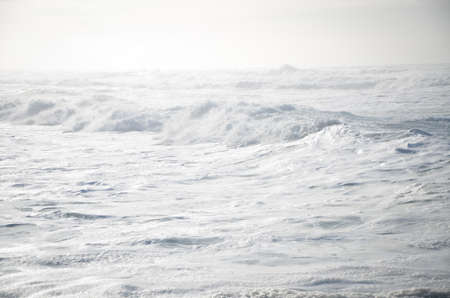 frothy: White frothy waves in the Pacific Ocean