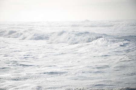 ocean waves: White frothy waves in the Pacific Ocean