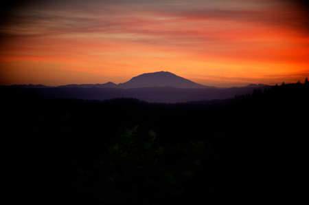 helens: Sunset shot over Mt St Helens Stock Photo