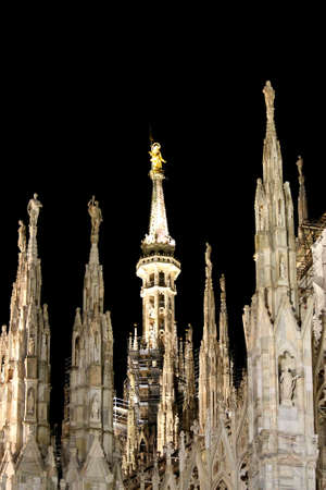 The spiers of the cathedral - Milan - Italy photo