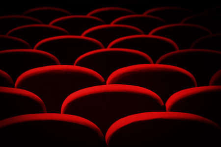 impressions: impressions of theater seat Stock Photo