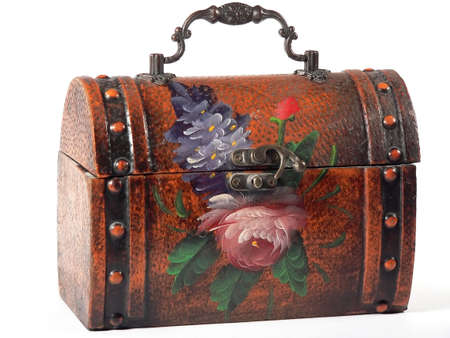 centered: Floral Lunchbox (centered) Stock Photo