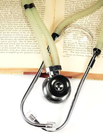 Stethoscope on Books Stock Photo