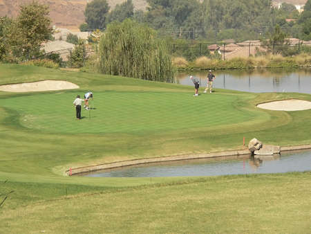 Golf Course and Tournament Stock Photo