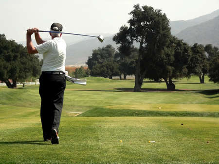 subdivisions: Golf Course & Action Stock Photo
