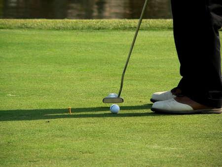 Golf Course & Action Stock Photo