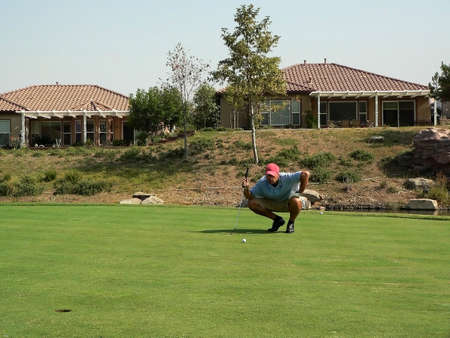 Golf Course & Action Imagens