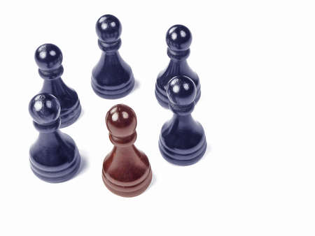 and distinctive: Distinctive Chess Pawn Stock Photo