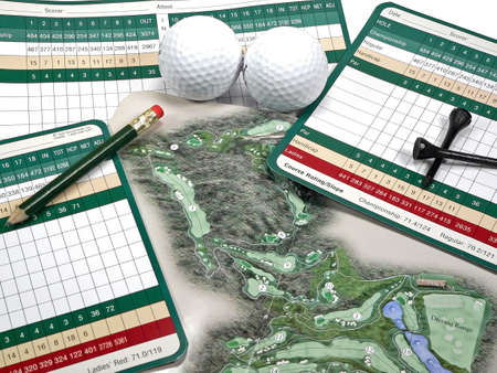 tally: Golf Scorecard and Course Guide Stock Photo