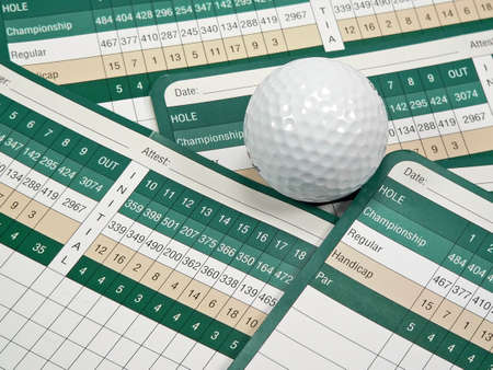 Golf Scorecard and Course Guide Stock Photo