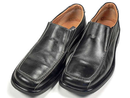 Mens Black Dress Shoes Stock Photo