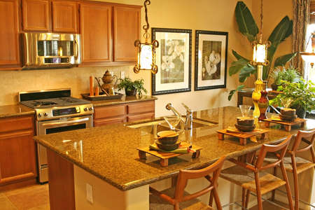 kitchen remodelling: The stylish rooms of a modern home for sale in a new comunity