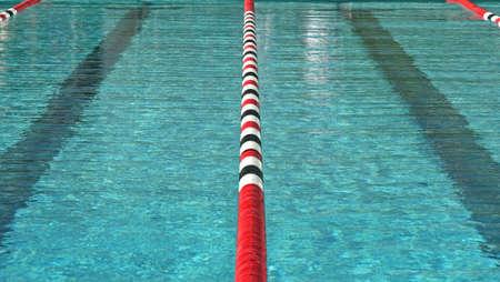 concurrencer: Une grande �cole de natation et de rencontrer les athl�tes qui sont en concurrence pour leur �cole Banque d'images