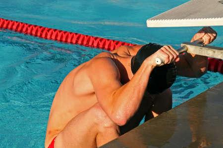 concurrencer: Une grande �cole de natation se rencontrer et les athl�tes qui se disputent leur �cole