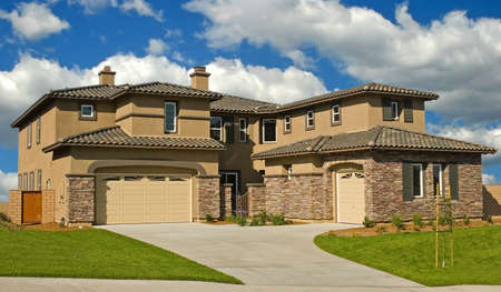 suburban home: A new home in a new subdivision awaiting a new