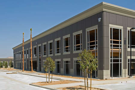 warehouse building: A new building under construction and its architectural details