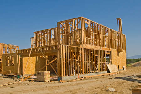 New residential construction in a subdivision of a new community Stock Photo - 1962402