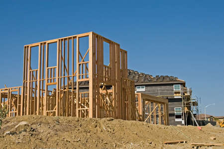 New residential construction in a subdivision of a new community Stock Photo - 1962421