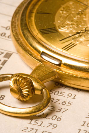pocket watch: Antique gold pocket watch Stock Photo