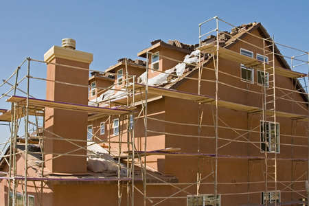 New residential construction in a subdivision of a new community Stock Photo - 2016700