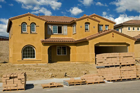 New residential construction in a subdivision of a new community Stock Photo - 2016749
