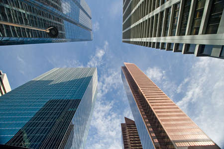 calgary: Downtown Calgary office buildings soaring into the skyline while gleaming in the sun