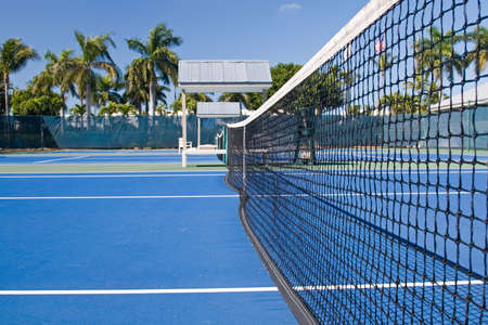 tennis tournament: Resort tennis club and tennis courts with balls