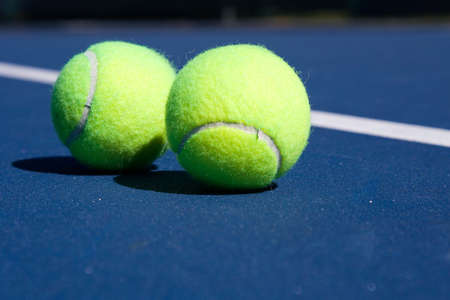 Resort tennis club and tennis courts with balls Stock Photo - 2694561